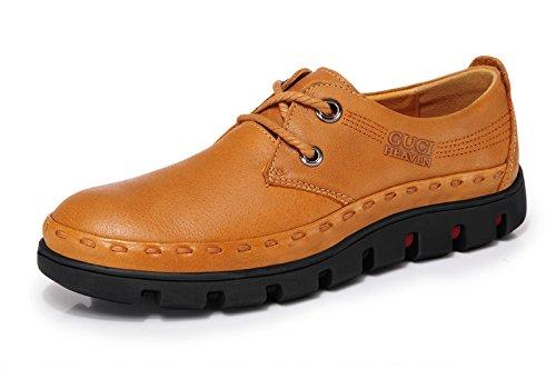 Guciheaven 英伦时尚潮鞋 头层牛皮男鞋 男士商务休闲鞋 低帮鞋子 正装鞋 男鞋