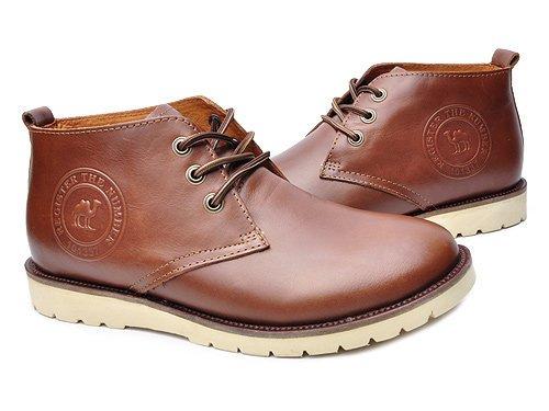 Camel 骆驼 时尚系带牛皮休闲鞋 男 男休闲鞋 11201044 咖啡 brown