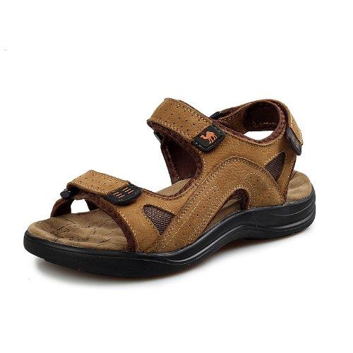 台湾骆驼 TAIWAN CAMEL 韩版时尚男凉鞋 男士真皮凉鞋 头层牛皮凉鞋子 沙滩鞋 休闲沙滩鞋 户外涉水鞋 男鞋子