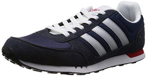 Adidas NEO 阿迪达斯运动生活 RUNNING 男 休闲跑步鞋 NEO CITY RACER F38446 新海军蓝 FTW/暗银金属/校园红 42.5 (UK 8-)