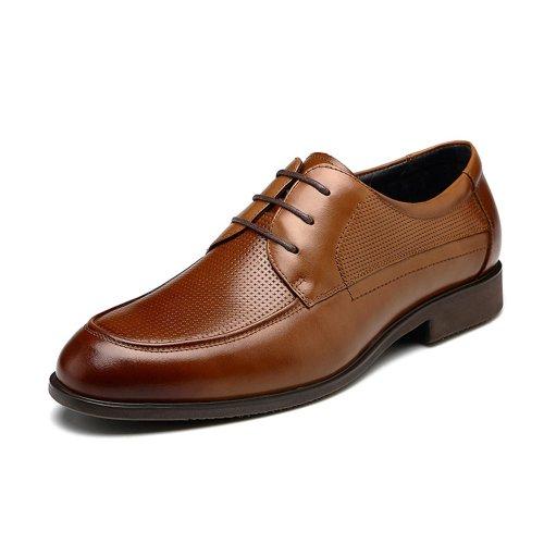 FGN 富贵鸟 2014春季新款头层牛皮男士透气商务正装休闲皮鞋男鞋