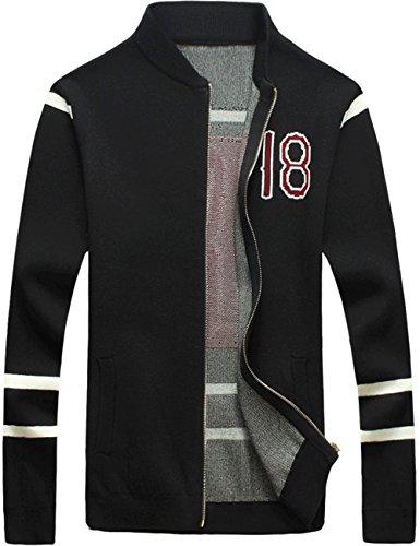 UYUK毛衣开衫外套 男士外套纯棉男士休闲夹克男韩版修身针织衫开衫外套W349