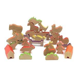儿童益智 牧场动物平衡积木 yt6549-0248
