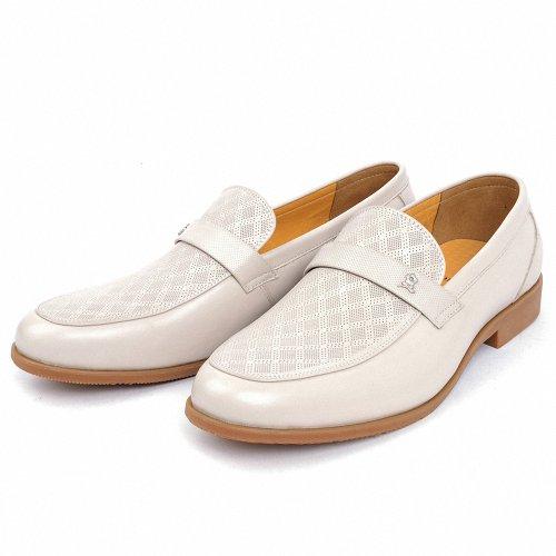 Montagut 梦特娇 男鞋2014夏款 舒适透气日常商务凉鞋 洞洞牛皮鞋米白色