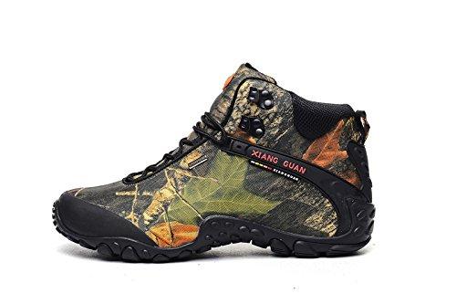 XIANG GUAN 英伦风尚系带户外鞋 高帮户外情侣登山鞋 莱卡防泼水牛津布 徒步鞋 男女登山鞋