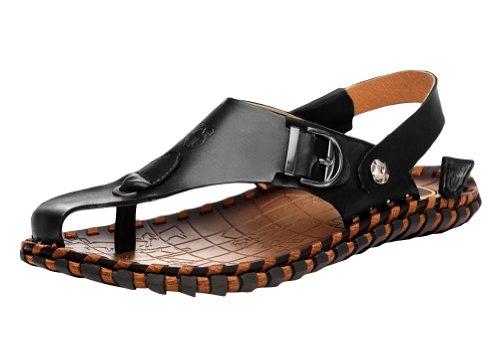VANCAMEL 西域骆驼 2014夏季新款男鞋沙滩鞋透气潮真皮凉鞋 D1324101097
