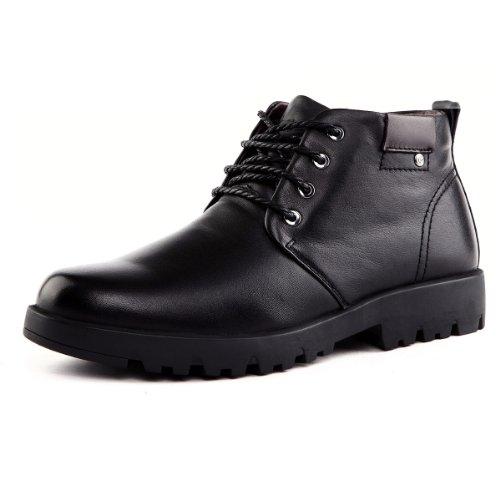 Tony Johnson/托尼琼斯 冬季新品真皮舒适保暖高帮系带男式皮靴 D6963410