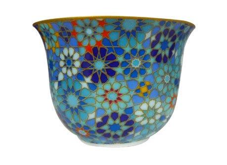 Images d'Orient Porcelain Espresso Cups with Tin Boxes, Moucharabieh