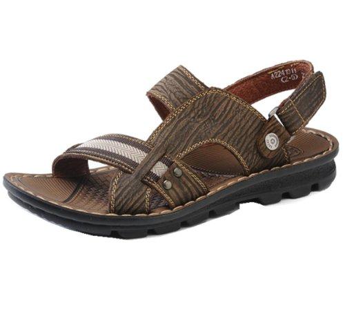 Camel 骆驼牌 商务时尚凉鞋款 复古风格 纹理清晰 耐磨牢固 极富光泽 简约休闲 清新自然 男凉鞋