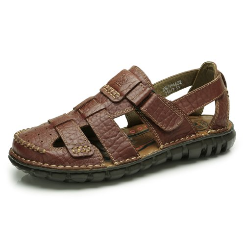 Camel 骆驼 男鞋 牛皮男凉鞋 休闲日常男士凉鞋 2013新款 82396602
