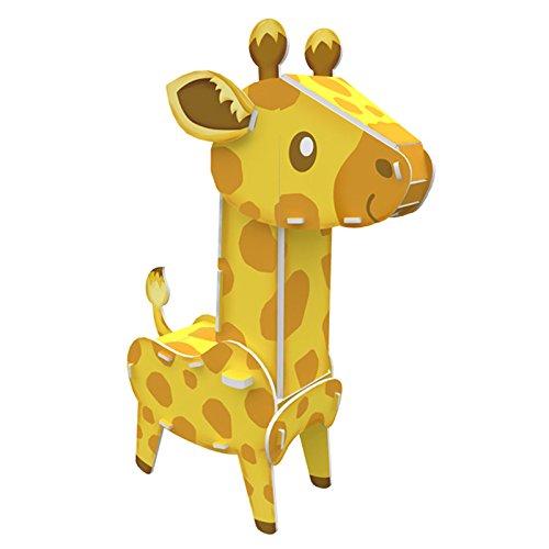 cubicfun 乐立方 3d立体拼图玩具 动物系列 长颈鹿 三星难度 k1503h
