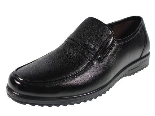YEARCON 意尔康 日常休闲鞋真皮鞋粗纹男单鞋套脚男鞋子 25ZE90635K-15