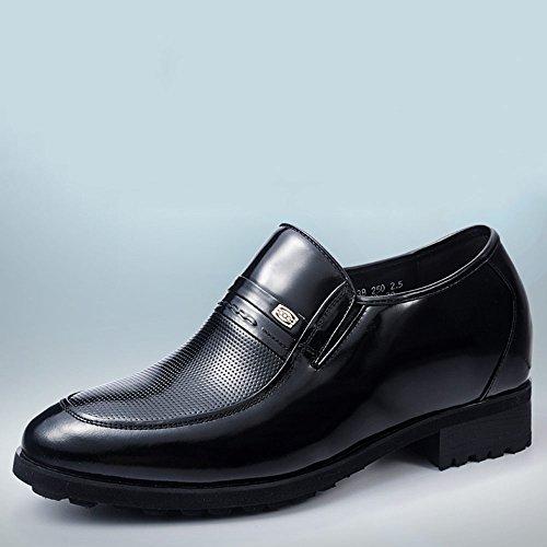 Gog 高哥 内增高男鞋8cm新郎结婚皮鞋男士增高鞋男式正装商务鞋秋