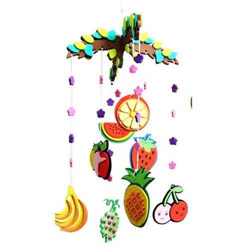 房间装饰 3d挂饰手工diy材料制作立体幼儿园美劳课 水果挂饰