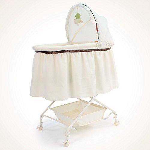 孩子家欧式婴儿摇篮床婴儿床新生儿小摇床可推宝宝吊篮睡篮车带帐床垫J175