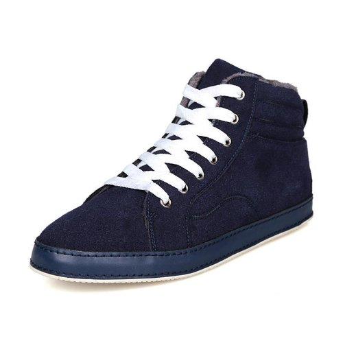 Yulu 优牛 冬季男鞋高帮鞋男休闲鞋板鞋保暖鞋男士马丁靴子韩版潮流潮鞋