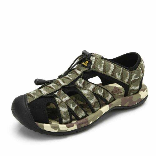 Camel 骆驼 户外沙滩凉鞋 2014新款防撞鞋头提花织带男款沙滩鞋A412036002