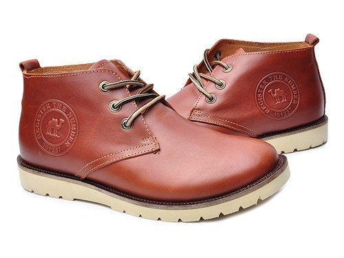 Camel 骆驼 时尚系带牛皮休闲鞋 男 男休闲鞋 11201044 红棕 brown