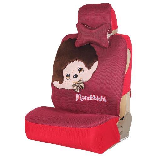 Mr.MA马先生 蒙奇奇卡通汽车座垫女款汽车坐垫蒙 座垫套四季通用座垫福克斯嘉年华 (玫红色)-图片