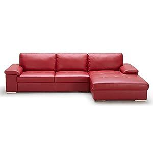 kuka顾家家居头层牛皮枣红色时尚个性沙发组合躺左