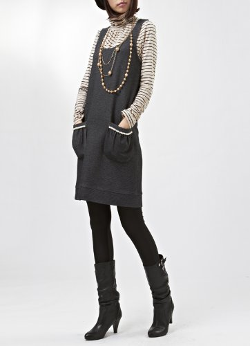 Daum 道明 品牌女装专柜韩版条纹棉质高领打底衫针织T恤女 DM11WI718