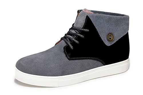 Guciheaven 英伦时尚潮鞋 反绒皮板鞋 日常休闲鞋 保暖男鞋 高帮休闲鞋 加绒男板鞋 男鞋