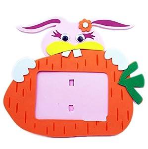 手工动物相框手工拼装粘贴画立体贴画玩具生日礼物