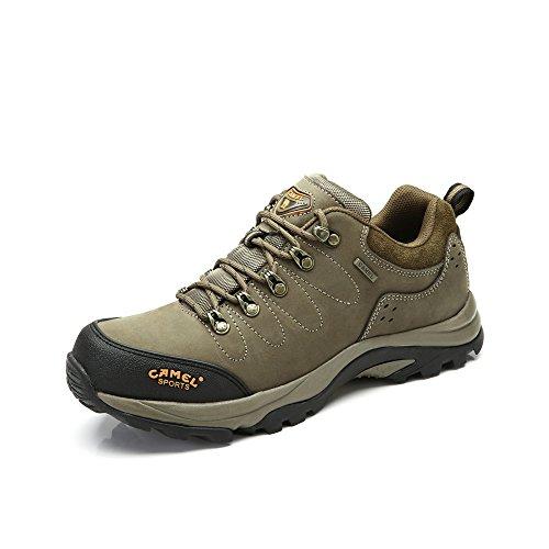 Camel 骆驼 户外登山鞋 头层牛皮耐磨登山鞋春秋季新款系带登山男鞋A432026015