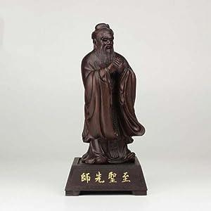 禅意居 孔子雕像黑檀 创意礼品摆件 至圣先师黑檀木雕
