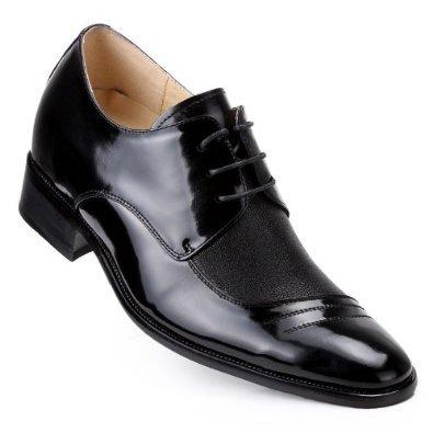Gog 高哥 增高鞋男式 男士英伦风正装商务牛皮鞋 男士隐形内增高鞋 尊贵典雅 大气时尚 增高6.5cm/厘米 高哥增高鞋 A2259-12