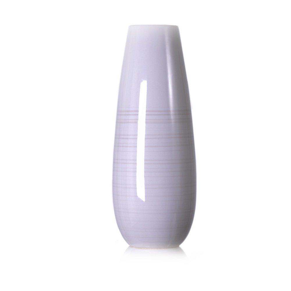 lver西尚玫瑰陶瓷瓷花瓶摆件灵韵手绘线条白底花瓶落地花瓶套装(可装