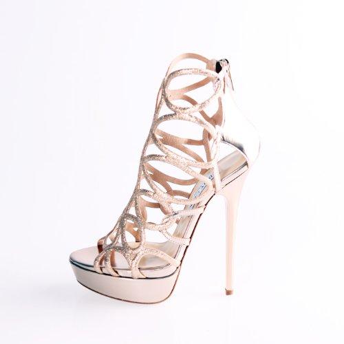 女士金属色高跟凉鞋