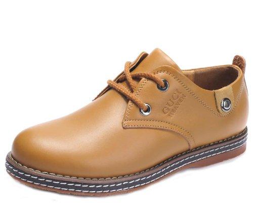 Guciheaven 英伦风时尚型男最爱 柔软真皮舒适透气休闲鞋 头层牛皮 男士商务男鞋 时尚板鞋