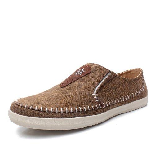 NORVINCY 诺凡希 男士帆布鞋 男鞋子 透气鞋 单鞋 英伦风潮流韩版NVC12127 3.28