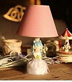 欣兰雅舍 花仙子创意布艺儿童房台灯 简约现代卧室床头可调光台灯 田园森女风 新品推荐! 送暖黄色光源一个 (蓝色)-图片
