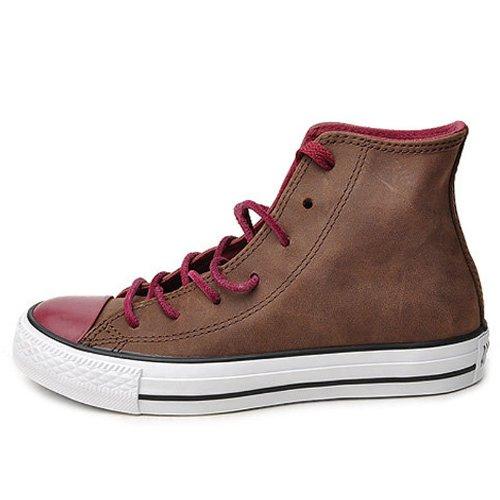 Converse 匡威 新款情侣运动高帮皮质休闲板鞋 CS134295 巧克力色
