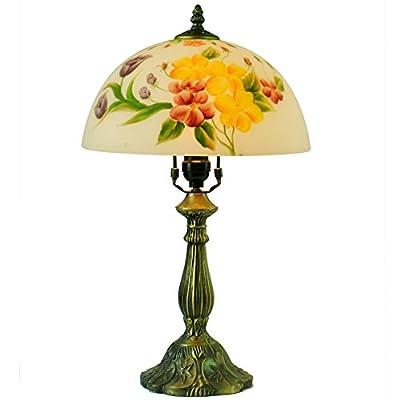 书桌走廊过道卧室餐厅客厅酒店书房台灯 欧式花瓣油画灯饰灯具 rh45