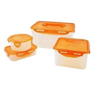 lock&lock乐扣乐扣HPL827MPS4R普通型彩色保鲜盒4件套¥40.8