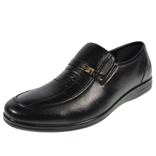 YEARCON 意尔康 日常休闲鞋真皮鞋男单鞋套脚男鞋子 25AE73155A