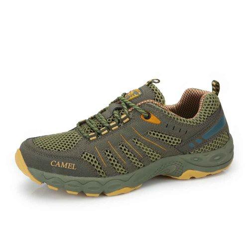 Camel 骆驼 户外徒步鞋 2014年新款 低帮男士系带网鞋 户外鞋412330004