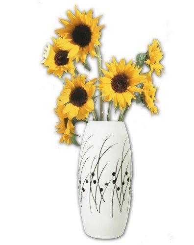 陶艺手绘花瓶-椭圆形 c277图片