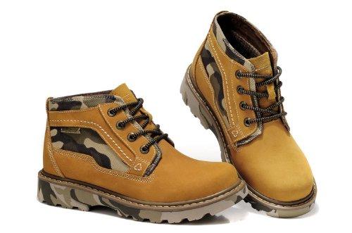 Guciheaven 英伦风时尚型男最爱 头层牛皮男鞋 高帮休闲鞋 迷彩底军靴 复古靴子 男鞋