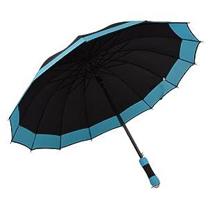百盛洋伞 bsy-1121商务伞 双人加大半自动伞 男士伞 14根加固 遮阳伞