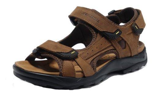 DEEWAHUA 韩版时尚男凉鞋 男士真皮凉鞋 头层反毛皮凉鞋子 沙滩鞋 运动沙滩鞋 男