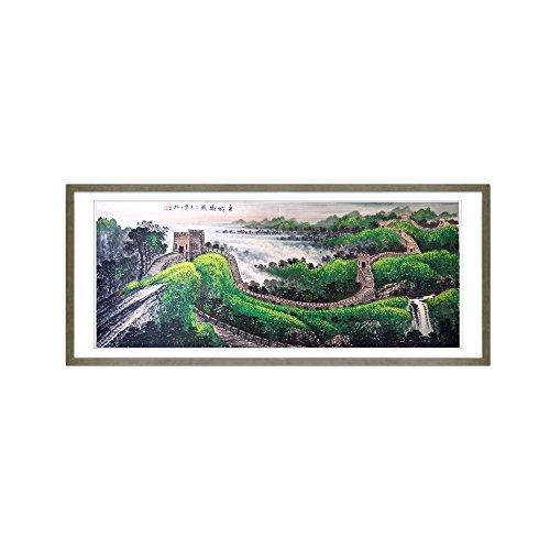 丹青在线 纯手绘国画 客厅装饰画 有框画 挂画 《长城》 (gss-0017-1