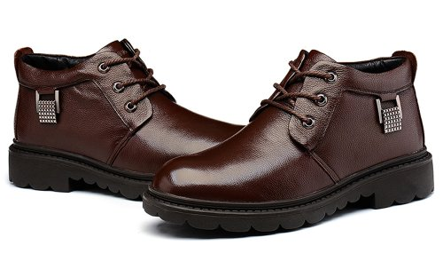 FGN 富贵鸟 2014新款韩版潮流保暖男短靴 英伦商务男鞋棉鞋D396151R