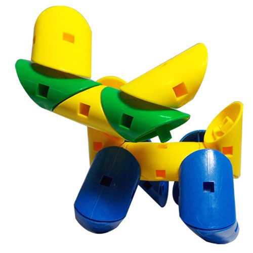 lionf 乐婴坊 旋变积木 乐高式智力玩具 塑料管道状拼装玩具 幼儿园早