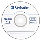 Verbatim 50 GB 6x Blu-ray Double Layer Recordable Disc BD-R DL, 10-Disc Spindle 97335