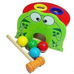 幼得乐 青蛙敲球盒 玩具 YX110