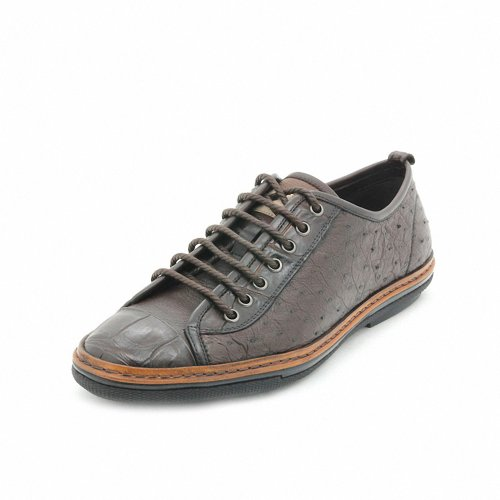 TIMOTHY&CO 迪迈奇 进口鳄鱼皮鸵鸟皮 舒适透气经典男式休闲商务鞋 TE01211-2B